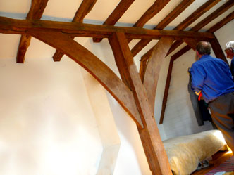 Crownpost roofs, adopted across England in the late 13th or first half of the 14th century, remained a main roof form until the beginning of the 16th century.