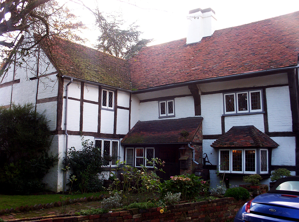 Half-wealden house (early 16th century, Newchapel, Surrey)